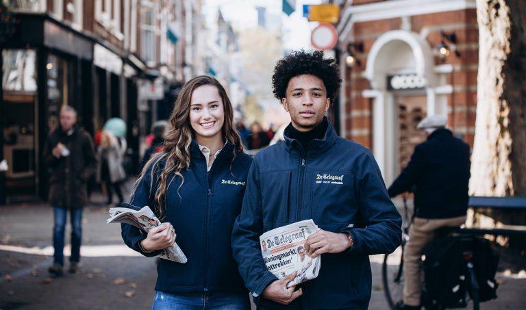 Goedbetaalde bijbaan: Sales Agents aan het werk voor het Telegraaf project.